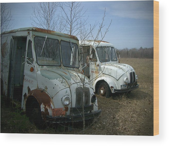 Trucks Wood Print featuring the photograph Sisters by Tim Nyberg