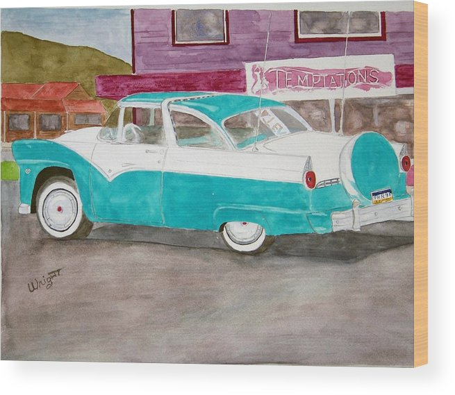 Car Wood Print featuring the painting Skagway Gold by Larry Wright