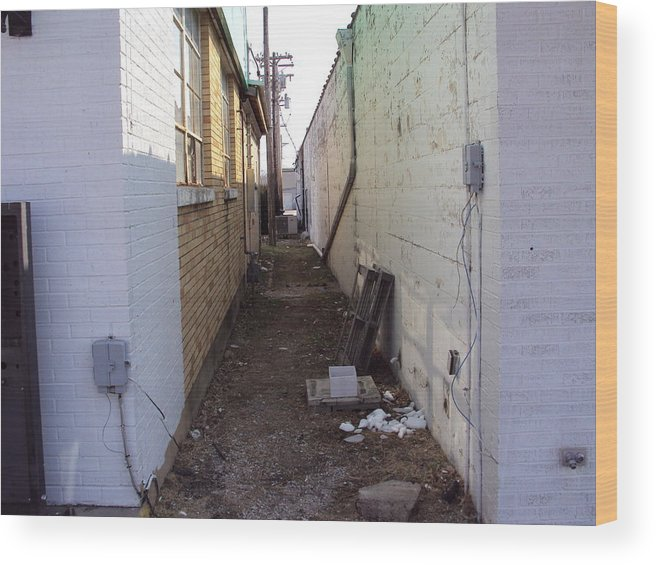 Alleyway Wood Print featuring the photograph Small Town Alley by Nathan Aldana