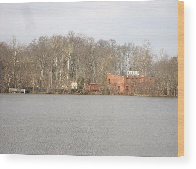 Lake Wood Print featuring the photograph Smithville Park's Old Mill Factory by Jennifer Sweet