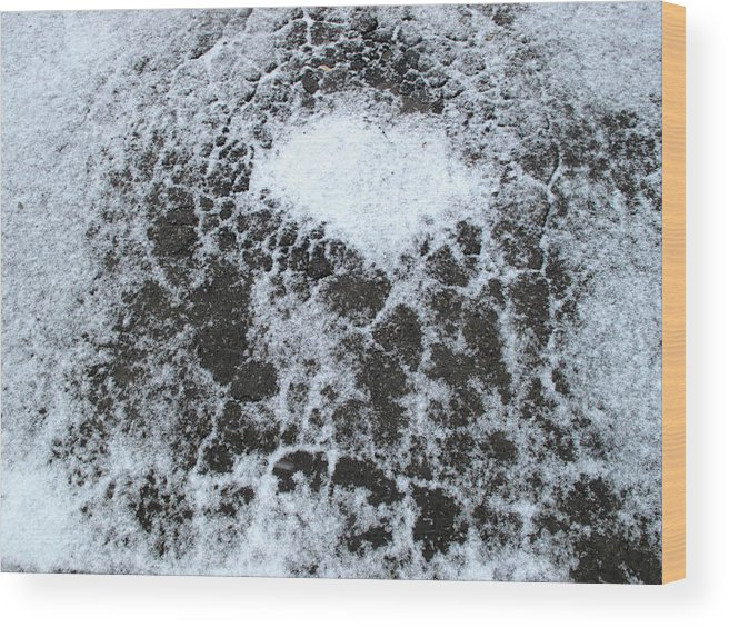 Snow Wood Print featuring the digital art Snow Patterns by Lyle Crump