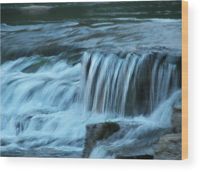 Soft Wood Print featuring the painting Soft Water by Kim