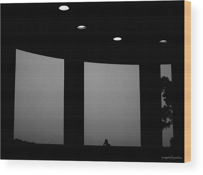 Window Wood Print featuring the photograph Solitude by Gerard Yates