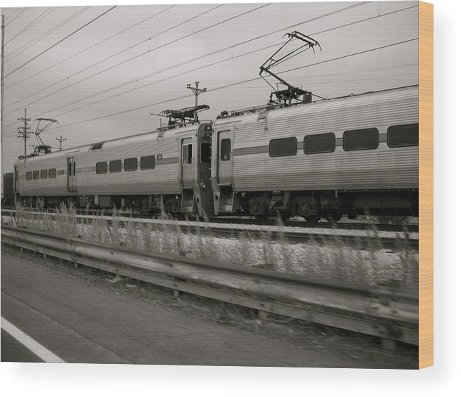 Landscape Wood Print featuring the photograph South Shore Line by Moby Kane