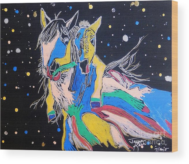 Horse Canvas Print Wood Print featuring the painting Special by Jayne Kerr