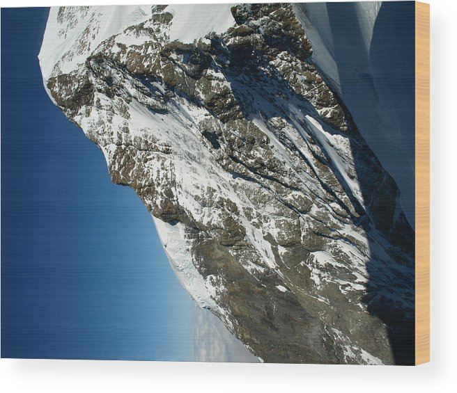 Mountain Wood Print featuring the photograph Sphinx Alp by Randall Slinkard