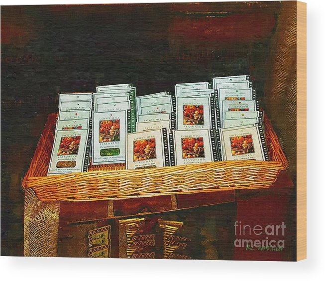 Antiques Wood Print featuring the painting Spice Island by RC DeWinter