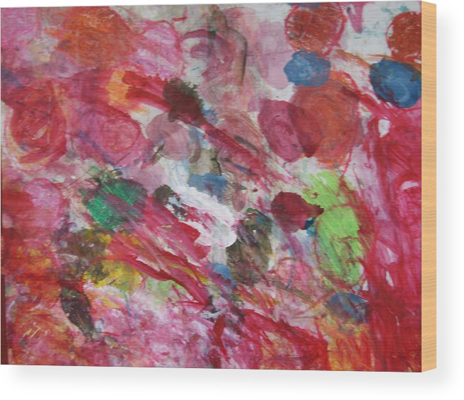Spring Wood Print featuring the mixed media Spring by Kim Putney