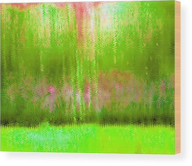 Pink Wood Print featuring the painting Spring Light by Vicky Brago-Mitchell