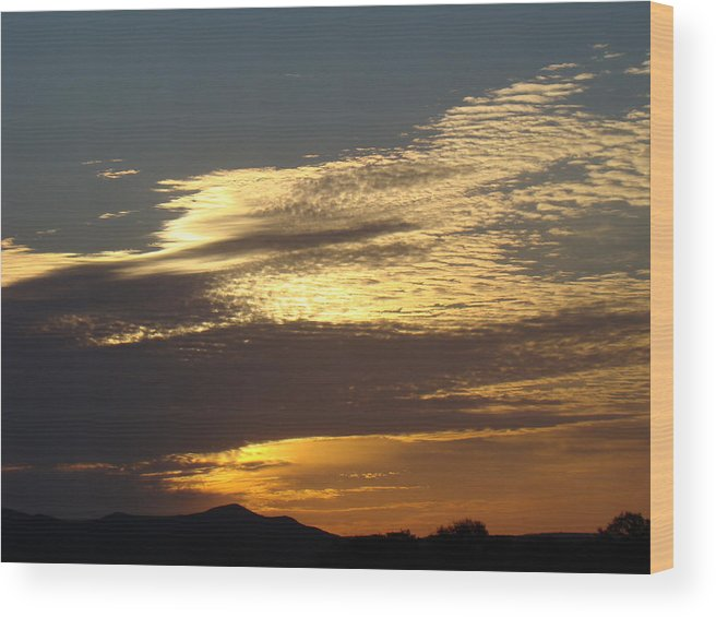 Landscape Wood Print featuring the photograph Spring Sunrise One by Ana Villaronga