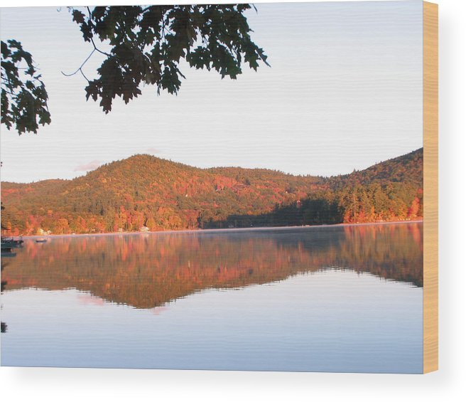 Squam Lake Wood Print featuring the photograph Squam Lake 2 by Michael Mooney