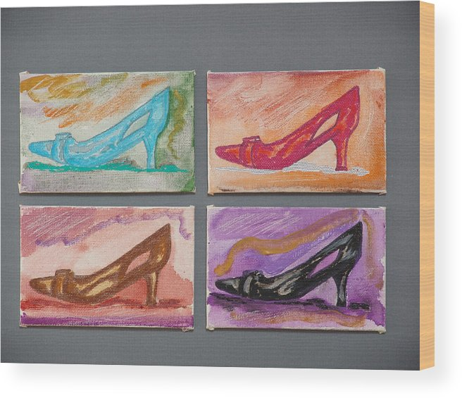 Shoes Wood Print featuring the painting St Johns 5th Avenue by Kevin Callahan