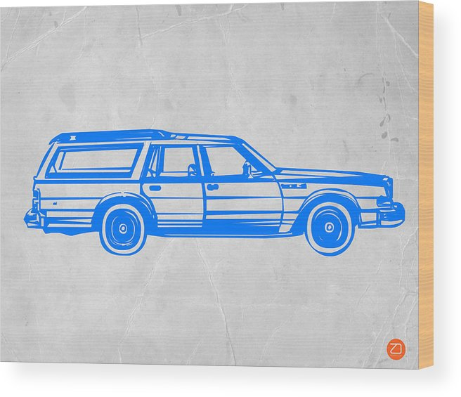 Station Wagon Wood Print featuring the painting Station Wagon by Naxart Studio