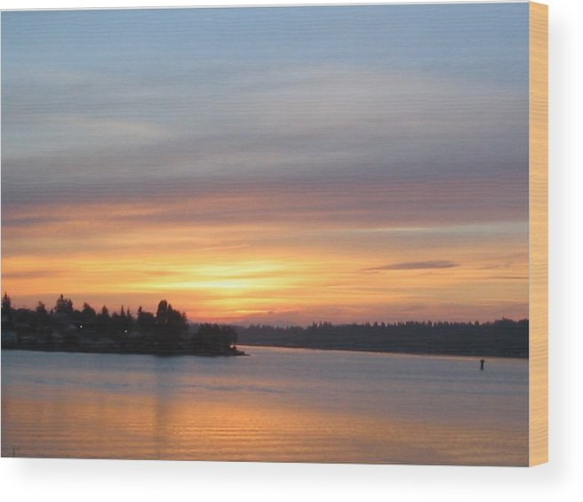 Sunrise Wood Print featuring the photograph Still Morning Sunrise by Valerie Josi
