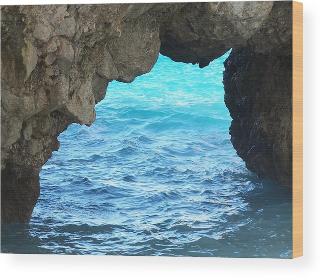 Capri Wood Print featuring the photograph Stone And Sea by Adam Schwartz