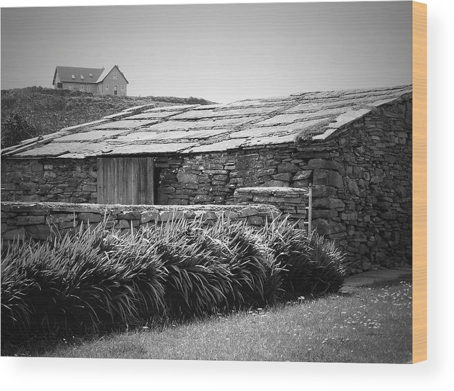 Irish Wood Print featuring the photograph Stone Structure Doolin Ireland by Teresa Mucha