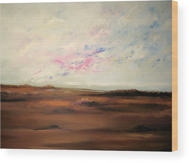 Landscape Wood Print featuring the painting Storm Catcher by Marcia Crispino