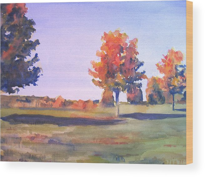 Landscape Wood Print featuring the painting Storm King Afternoon by Joyce Kanyuk