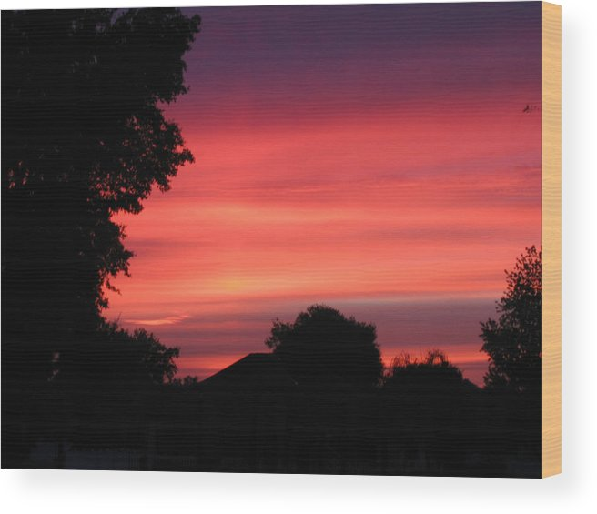 Sunrise-sunset Photographs Wood Print featuring the photograph Stormy Evening Sky by Frederic Kohli