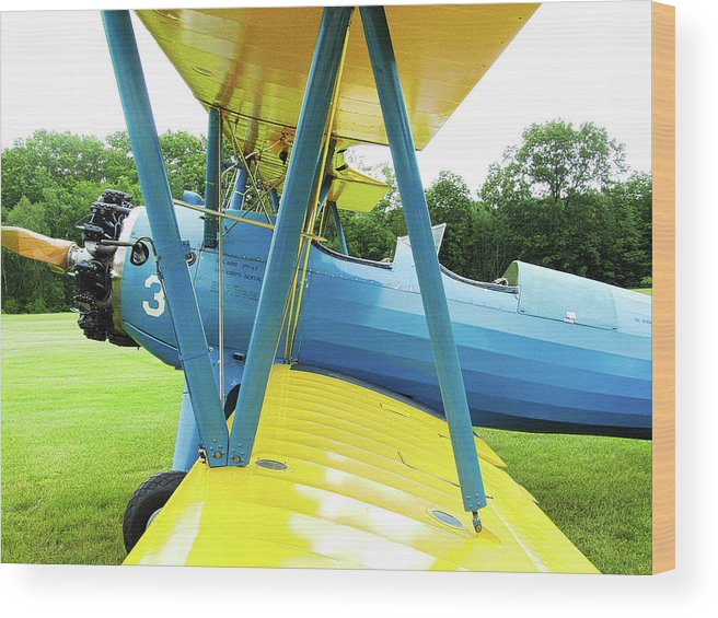 Stearman Wood Print featuring the photograph Struts And Wires by Bill Dussault