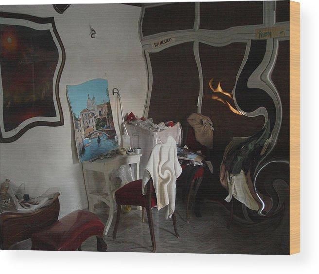 Studio Wood Print featuring the photograph Studio S by Angel Ortiz
