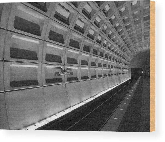 Subway Wood Print featuring the photograph Subway Station by Michael Lee