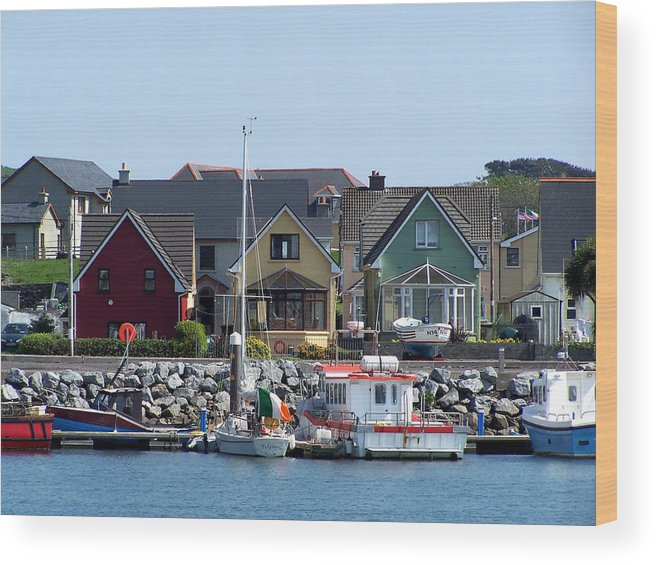 Irish Wood Print featuring the photograph Summer Cottages Dingle Ireland by Teresa Mucha