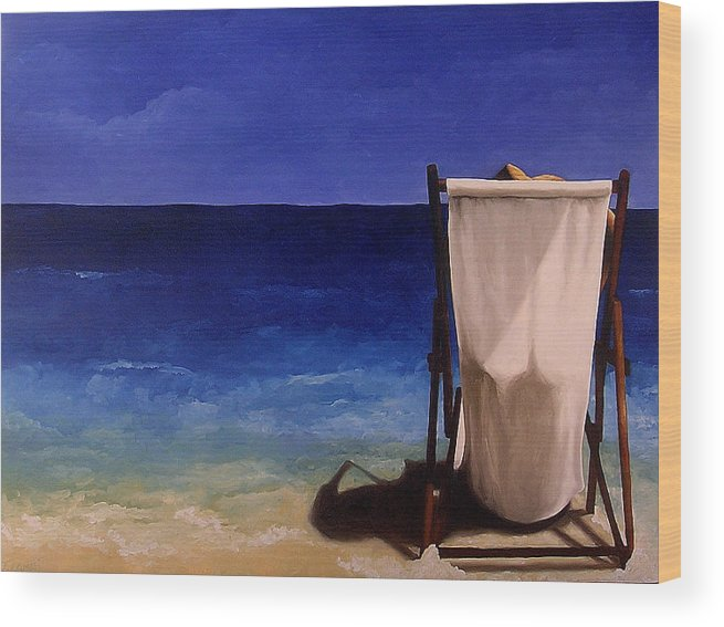 Seascape Wood Print featuring the painting Summer Days by Trisha Lambi