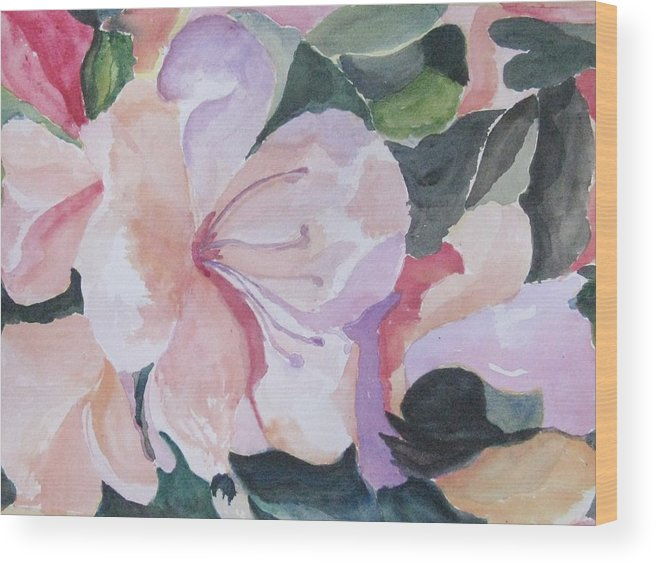 Flower Wood Print featuring the painting Summer Delight by Trilby Cole