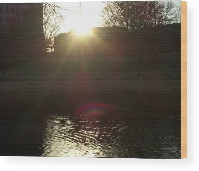 Light Wood Print featuring the photograph Sunday At Lenox Park 4 by A Windhauser