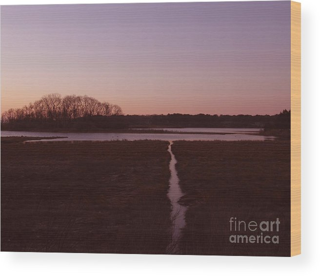 Sunrise Wood Print featuring the photograph Sunrise by Carol Christopher