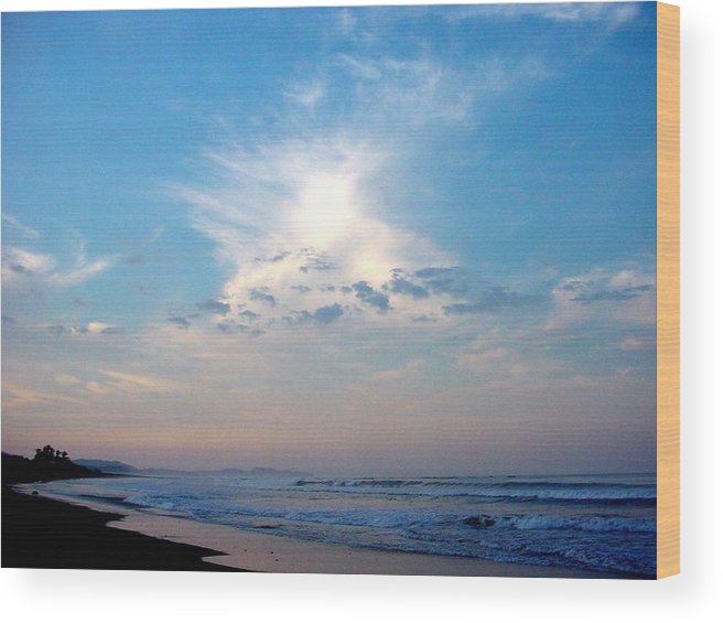 Sunrise Wood Print featuring the photograph Sunrise In Costa Rica by PJ Cloud