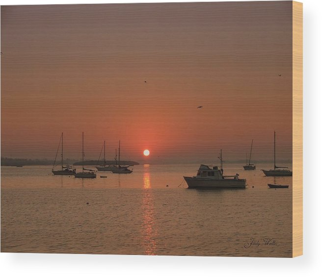 Sunrising Wood Print featuring the photograph Sunrising by Judy Waller