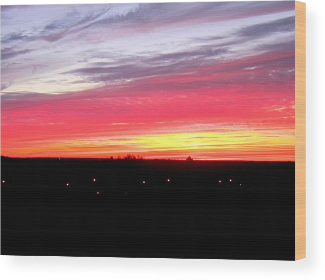 Sunset Wood Print featuring the photograph Sunset 2 by Abby Humphries