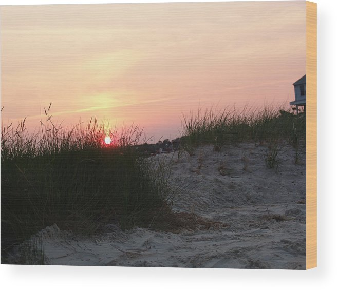 Dewey Beach Wood Print featuring the photograph Sunset Dewey Beach by Kevin Callahan