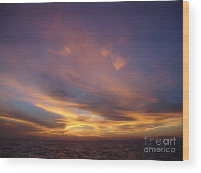 Sunset Wood Print featuring the photograph Sunset Over Island by Chad Natti
