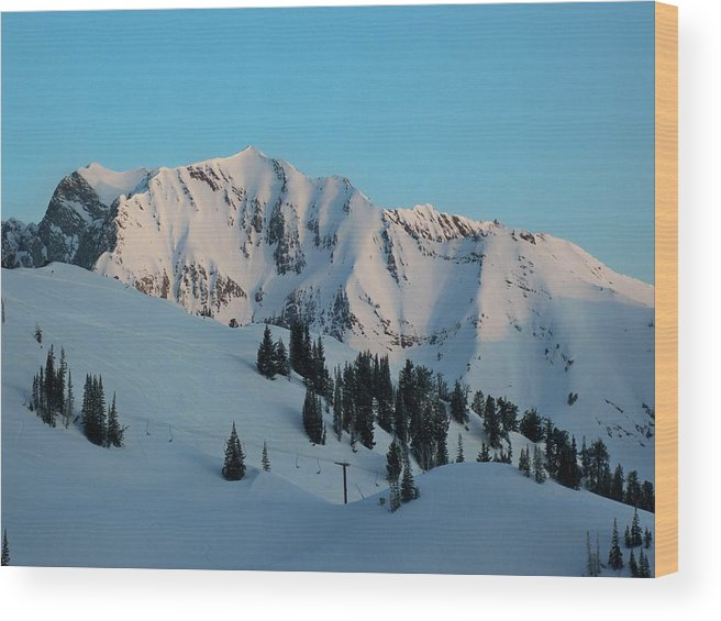 Ski Wood Print featuring the photograph Superior Sunrise by Michael Cuozzo