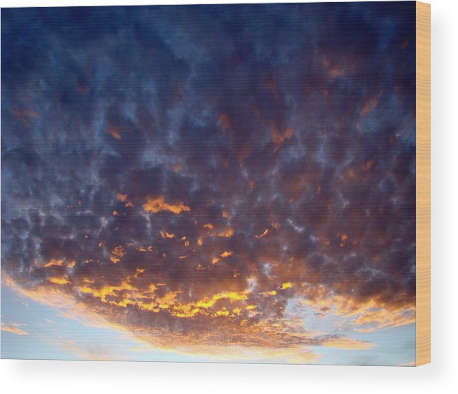 Cloud Wood Print featuring the photograph Supernatural Cloud One by Ana Villaronga