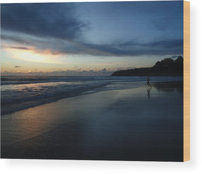 Thailand Wood Print featuring the photograph Surin Nightfall by Alexa Humphreys