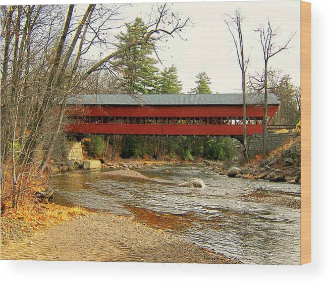 Nh Wood Print featuring the photograph Swift River Covered Bridge by Wayne Toutaint