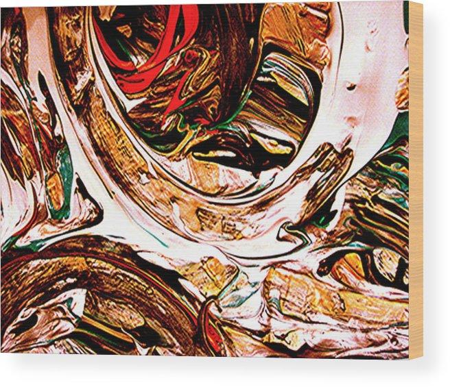 Mixed Media Prints Wood Print featuring the digital art Swirl 2 by Teo Santa