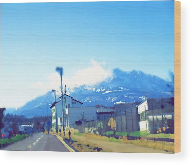 Landscape Wood Print featuring the photograph Swiss Road by Chuck Shafer