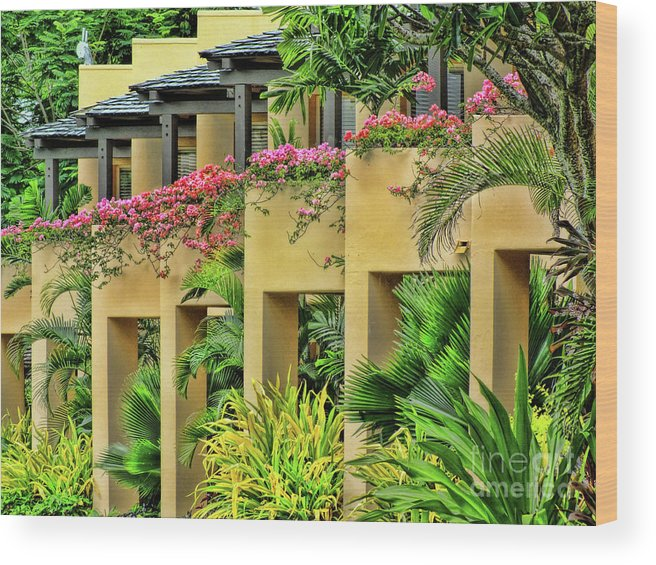 Fiji Wood Print featuring the photograph Symmetry by Karen Lewis