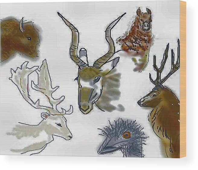 Exotics Wood Print featuring the digital art Texas Exotics by Carole Boyd