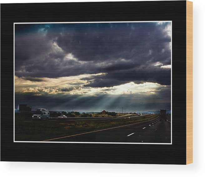 Photo Wood Print featuring the photograph Texassky by Richard Gordon