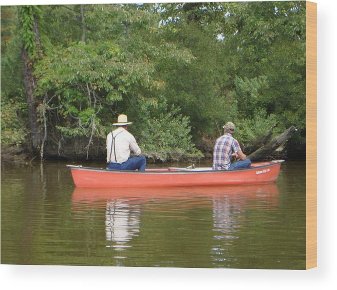 Fishing Wood Print featuring the photograph The Amish Way by PJ Cloud