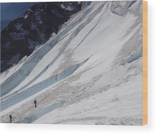 Mount Rainier Wood Print featuring the photograph The Ascent by Mark Camp
