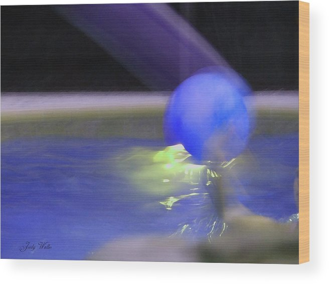 3-d Wood Print featuring the photograph The Blue Ball by Judy Waller