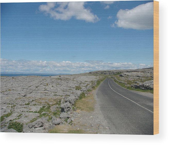 Ireland Wood Print featuring the photograph The Burren by Carolyn Curtice