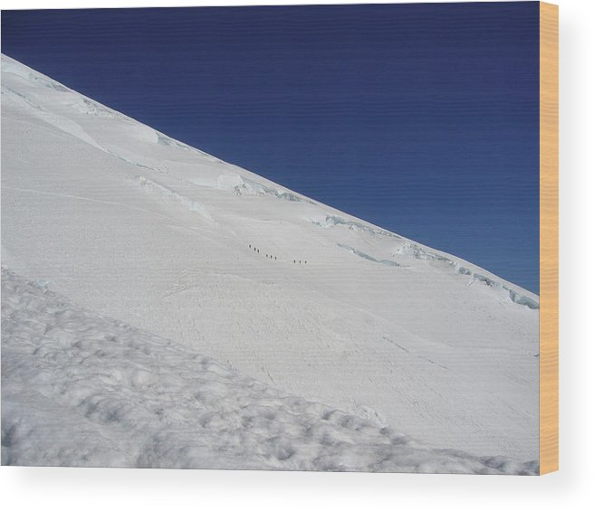 Mount Rainier Wood Print featuring the photograph The Climb by Mark Camp